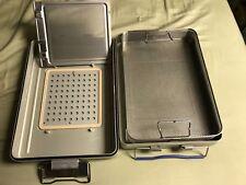 """MEDIN ACT2 Medium Size Sterilization Case / Container & Basket 17"""" x 12"""" x 4"""""""