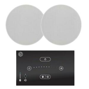 """Systemline E50 Bathroom Bluetooth System 5"""" Waterproof Ceiling Speakers (QI50CW)"""