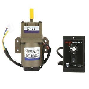 AC220V 6W Electric Gear Motor, Single Phase 4-poles Asynchronous Gear Motor H...