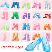 80pcs 40 Pairs Different High Heel Shoes Boots For Doll Dresses Clothes Randomly
