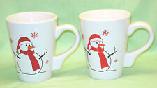 Mugs California Pantry Christmas Set 2 Snowman Cup Coffee Cocoa Tea Winter Snow