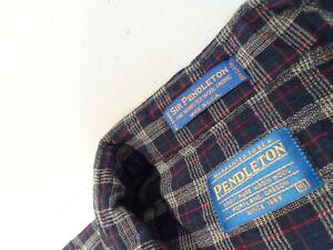 Pendleton Mens Sir Pendleton Shirt Size XL 100% Pure Virgin Wool Plaid Button Up