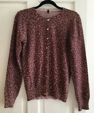 Benetton Leopard print cardigan Size Medium.