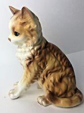Andrea by Sadek Porcelain Orange Tabby Cat Kitten Figurine Made in Japan