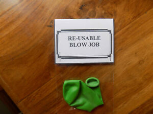 Re-usable blow job funny birthday joke present. 18th 21st 30th 40th 50th 60th