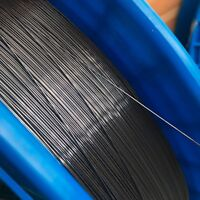 "Nitinol shape memory alloy wire 0.5mm (0.02""), 40 ºC Af (104 ºF), by the foot"