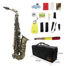 Professionelles Messing Alt Saxophon Eb Sax mit Koffer Pflege Kit U2Z0