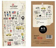 New York City America Transparent Scrapbook Diary Album Decor Stickers Scrapbook