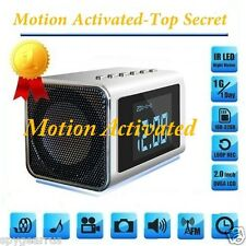 MOTION ACTIVATED- TOP Rated  Spy Camera Mini Clock Hidden/Covert Audio/video