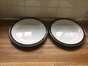 Denby - Jet Black - Dessert /Salad Plates x 2.