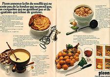 PUBLICITE ADVERTISING 044  1971   PICON ( 2 pages) fromage à fondue & soufflé