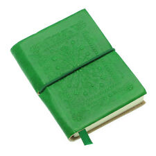 Fair Trade Handmade Small Emerald Green Embossed Leather Journal Notebook