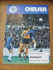 21/08/1974 Chelsea V Burnley (cambios de equipo, algunas manchas)