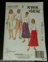 Kwik Sew New Uncut Pattern # 3195 Misses Sizes XS-XL Skirts