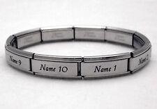 Custom Silver MATTE Large Link Italian Charm Bracelet