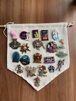 6pcs left over pin trading bag handmade badge trader collection book disney best