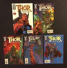 THOR VIKINGS #1 - 5 Comic Books FULL SERIES Garth Ennis Marvel MAX 2003 Fabry