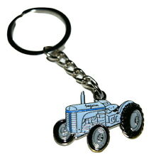 T20 Grey Ferguson Tractor Keyring Gift Farming Enamel & Metal Christmas