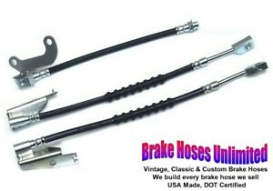 BRAKE HOSE SET Ford Galaxie 500, 1969 1970 - Front Disc