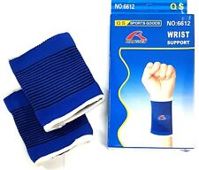 QS Wrist Brace Support Gym Straps Strain pain relief wrap bandage pair Set of 2