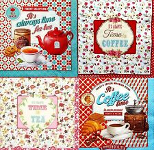 4 Different Single Lunch Paper Napkins for Decoupage Party Napkin Tea / Coffee