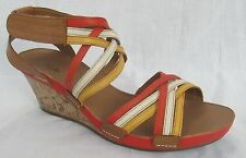 Clarks Wedge Strappy 100% Leather Upper Shoes for Women
