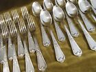 12 couverts de table métal argenté Ercuis LXV 29 dinner forks soup spoons CMDD