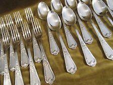 12 couverts de table métal argenté Ercuis LXV 29 dinner forks soup spoons  CMDD