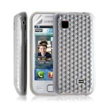 Housse coque etui gel damier transparent pour Samsung Wave 575 S5750 couleur bla
