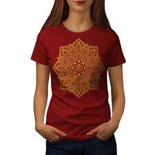 Wellcoda Mandala Arte Para Mujer T-Shirt, Yoga Yantra Informal Camiseta Impresa De Diseño