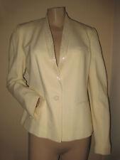 Nwt $250 Vintage 80s Allen Bernard Ivory Wool Beaded Evening Blazer Jacket S/M