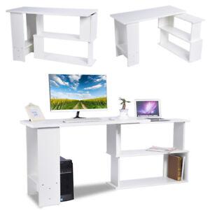 Computertisch Schreibtisch Eckschreibtisch Winkelkombination MDF Arbeite Tisch
