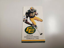 Rs20 Edmonton Eskimos 1990 Cfl Football Pocket Schedule - Oldies 1260