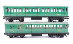 HORNBY DUBLO (2 or 3 rail) 2 x SR Suburban Coaches