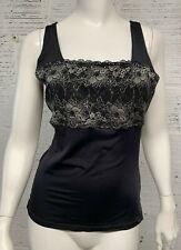 Flexees Women's Size 2XL Black Lace Sleeveless Tank Top