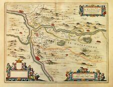 Le duche d'Aiguillon Wine Map c.1630 Southwest France Willem Blaeu
