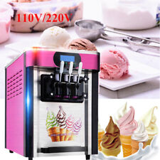 3 Flavor Safty Commercial Frozen Ice Cream Cones Machine Soft Ice Cream Machine