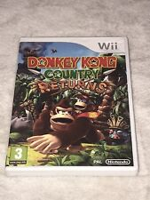 """BOXED NINTENDO WII """" DONKEY KONG COUNTRY RETURNS """" GAME"""