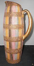 Gorgeous Bitossi MCM Italian Pitcher Vase Pastels Gold