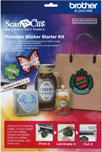 BROTHER Scan N Cut PRINTABLE STICKER STARTER KIT (CAPSKIT1) - FREE UK P&P