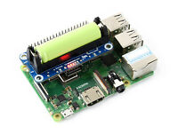 Waveshare Li-ion Battery HAT for Raspberry Pi 5V Output Quick Charge for 14500