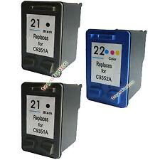 2pcs HP 21 nero + 1pcs 22 CARTUCCIA colori per 1410 5610 F2179 STAMPANTE
