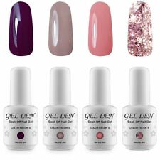 4pcs/set 8ml Gellen Gel Nude Glitter Nail Polish Set Collection UV/LED Lamp Cure