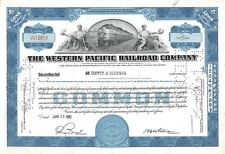 The WESTERN  Pacific Railroad Compagny Certificate 5 shares  1951 (12653)