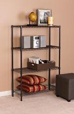 """4 Tier 14""""x 36""""x 54"""" Steel Wire Shelf Storage Rack-Black Finish"""