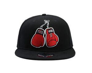 Underground Kulture Snapback Boxing Bout Black Baseball Cap Boxing Gloves