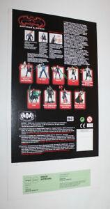 1997 Kenner Batman & Robin Bruce Wayne Proof Card Set Prototype Pre-Production