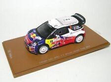 Citroen Ds3 WRC N.2 Winner Jordan Rally 2011 Ogier-ingrassia 1 43 Spark S3309
