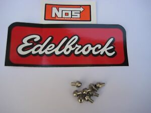 NOS/NITROUS/HOLLEY/ (8) EDELBROCK OR NOS BRAND STAINLESS STEEL JETS-CHEAP PRICE!