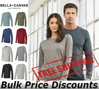 Bella + Canvas Mens Blank Top Long Sleeve Jersey Tee T Shirt 3501 up to 3XL